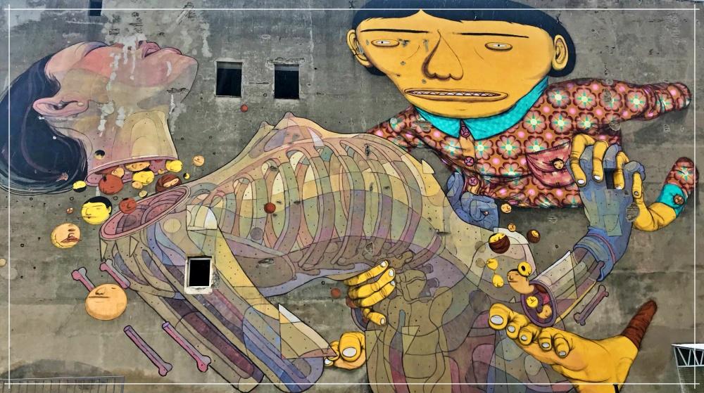 Atrakcje Łódź / Łódzkie murale/ Wrocław Kobiecym Okiem